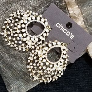 Nwt Chicos bling dangly earrings
